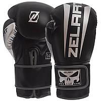 Перчатки боксерские на липучке PU ZELART BO-1323 черные, 10 унций