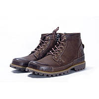 Ботинки мужские Timberland  Earthkeepers Rugged Mid Brown (тимберленд) на меху коричневые, фото 1