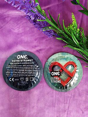 Презервативы ONE Extra Strong (прочные) (по 1 шт)