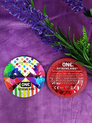 Презервативы ONE Extreme Ribs (ребристые) (по 1 шт)