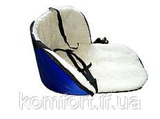 Матрасик подстилка на санки цвет синий