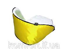 Матрасик подстилка на санки цвет желтый