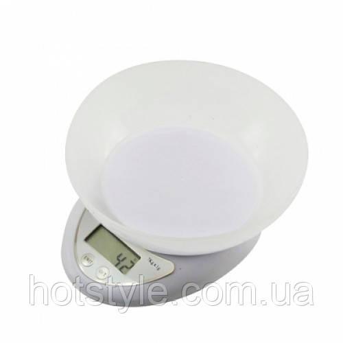 Весы кухонные электронные до 7кг, точность 1г, с чашей, 101624