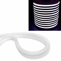 Гибкий светодиодный неон SMD 2835 120/м IP68, 1м белый 220В, 101778
