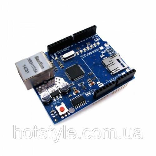 Сетевой модуль Ethernet Shield для Arduino, W5100, 103786