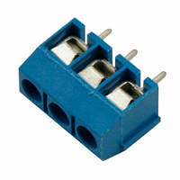 Клеммная колодка на 3 контакта, шаг 5мм KF301-3P, 102215, фото 1