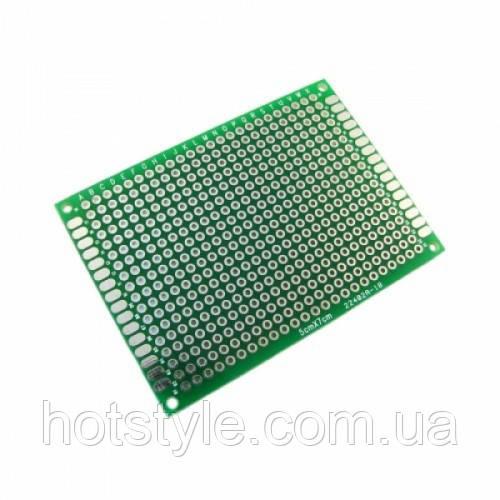 PCB 5x7 см двухсторонняя печатная плата, 100713
