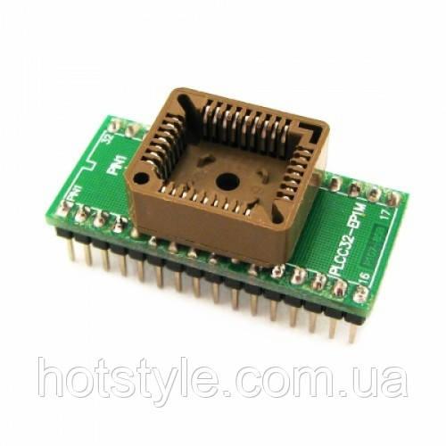 PLCC32 - DIP32 переходник, панелька для микросхем, 100723