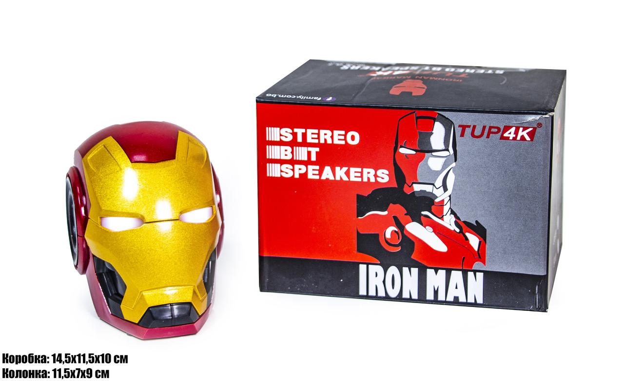 Портативная колонка блютуз Железный человек Bluetooth Iron Man