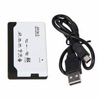 USB Mini/MicroSD SD MMC xD M2 MS Duo CF кардридер, 100836