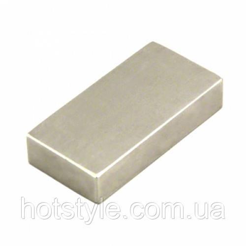 Магнит неодимовый сильный 60x30x10мм N35, 102503