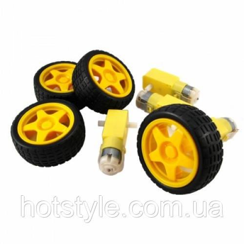 Мотор + колесо для робот. проекта, кита Arduino, 102651