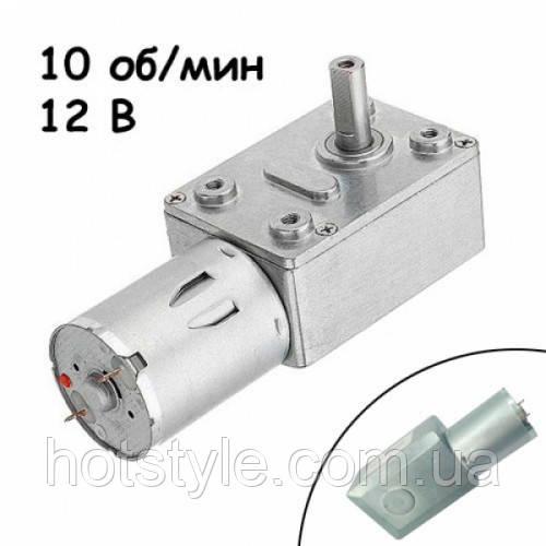 Мотор редуктор червячный JGY-370 10 об/мин 12В, 102662