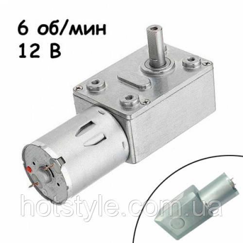 Мотор редуктор червячный JGY-370 6 об/мин 12В, 102670