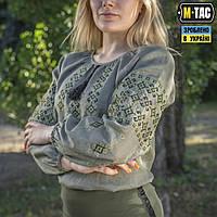 M-Tac вышиванка женская 100% лён олива, фото 1
