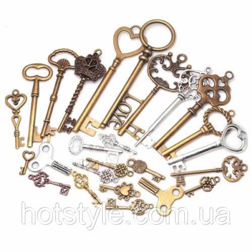 Набор из 40 металлических подвесок шармов шармиков, ключи Premium, 102766