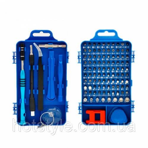 Набор инструментов 110в1 для ремонта электроники, отвертка с 98 битами, 102798