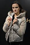 Куртка женская теплая, модная с плюшевыми вставками и капюшоном, фото 6