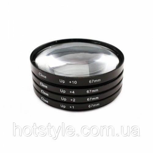 Набор макролинз 67мм Close-up, +1+2+4+10, макро, 102831