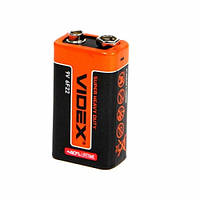 Батарейка крона VIDEX CR-9V 6F22 9В, батарея, солевая, 101207