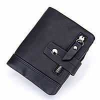 Кошелек BULLCAPTAIN QB004 кожаный Черный (M_KO_BULLCAP_046)