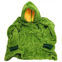 Толстовка с капюшоном худи Huggle Pets трансформер в игрушку Зеленый 130 - 152 см (M_TL_HP_008-01)