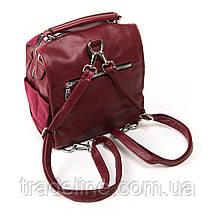 Сумка Женская Классическая иск-замш FASHION 1-011 6496 red, фото 2