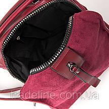 Сумка Женская Классическая иск-замш FASHION 1-011 6496 red, фото 3