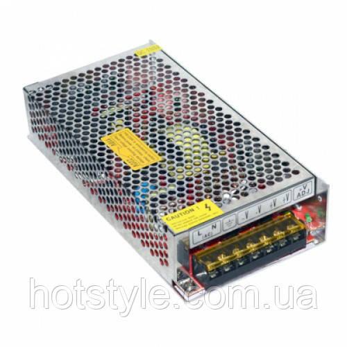 Блок питания перфорированный 12В 16.6А 200Вт, 2-кан для LED-лент CCTV, 101503