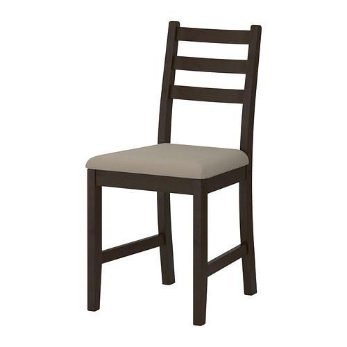 ИКЕА (IKEA) ЛЕРХАМН, 702.642.81, Кресло, черно-коричневый, Виттарид бежевый - ТОП ПРОДАЖ