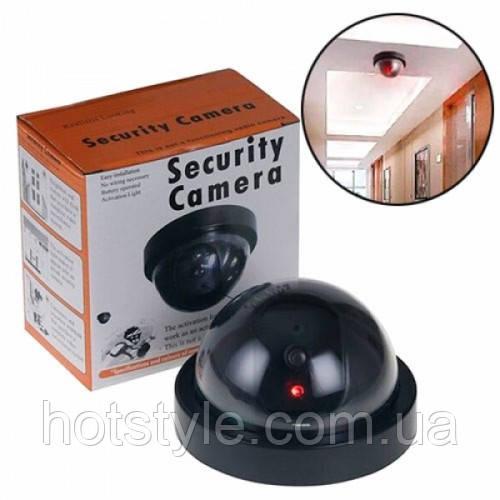 Муляж видеокамеры, купольная камера видеонаблюдения обманка, 104852
