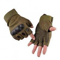 Перчатки тактические с открытыми пальцами Oakley Хаки XL (M_O_070419_23)