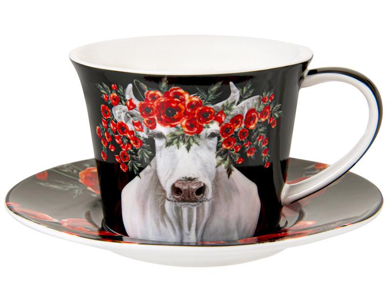 """Чайный набор """"Красный мак"""" 2 предмета 220 мл, Lefard, 924-593"""
