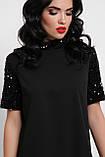 Платье черное с черными пайетками Бетти, фото 4