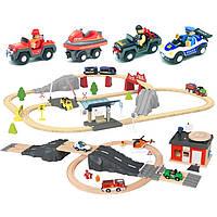 Велика дерев'яна яна залізниця PLAYTIVE Junior XL 120 елементів Німеччина