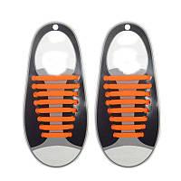 Силиконовые шнурки Triks без завязок Оранжевые (M_А_070419_23-3)