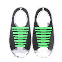 Силиконовые шнурки Triks без завязок Зеленые (M_А_070419_23-5)