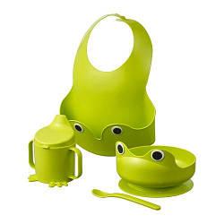 ИКЕА (IKEA) Тонкий матрас, 400.848.61, Набор посуды, 4 предм, зеленый - ТОП ПРОДАЖ
