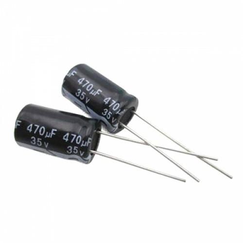 10x Конденсатор электролитический алюминиевый 470мкФ 35В 105С, 100181