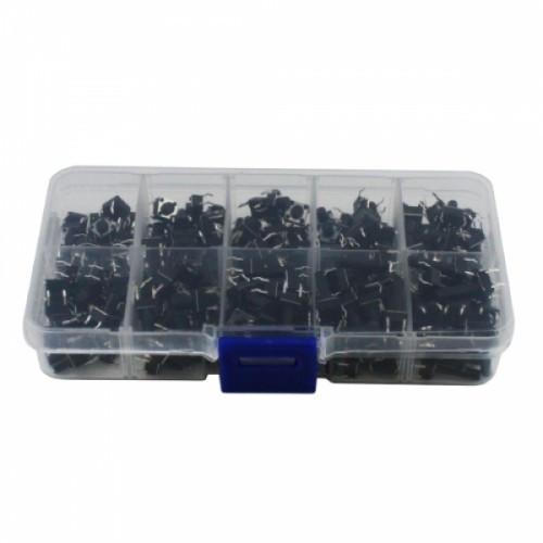 200x Кнопка тактовая, микрик, DIP 4 контакта 6х6 набор, 100285