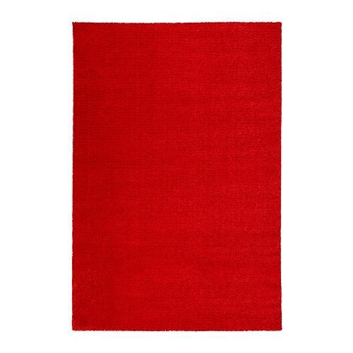 ИКЕА (IKEA) LANGSTED, 304.080.45, Ковер, короткий ворс, красный, 133x195 см - ТОП ПРОДАЖ