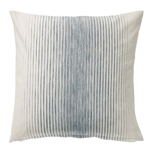 ИКЕА (IKEA) ISPIGG, 504.024.53, Чехол на подушку, синий / натуральный, 50x50 см - ТОП ПРОДАЖ