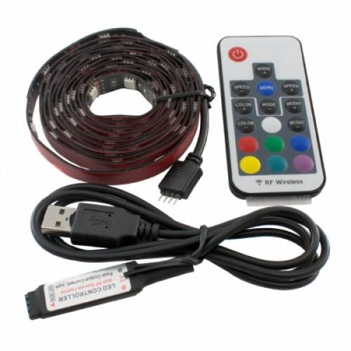 LED RGB 2м лента подсветки ТВ с пультом д/у, USB, 100617
