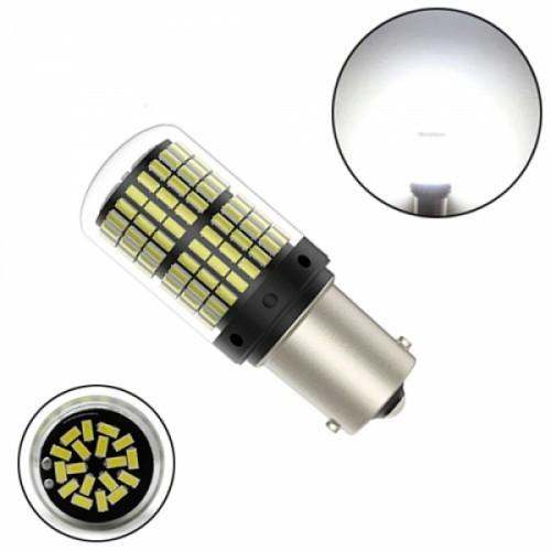 LED 1156 BA15S P21W лампа в автомобиль, 144 SMD 3014, белый, 105165