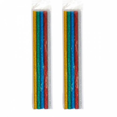 Клей декоративный, стержни цветные для клеевого пистолета 7мм, 10шт 65г, 102201