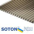 Сотовый поликарбонат Soton Eco 8 мм бронза 2,1х6 м, фото 2