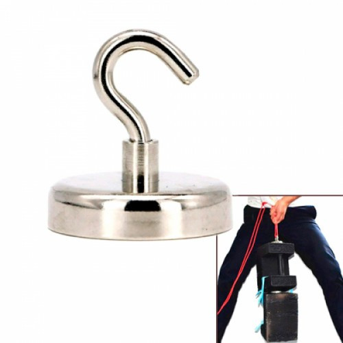 Магнит неодимовый поисковый с крючком 60x15мм N52 до 112кг, 102499