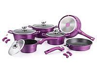Набор кастрюль с тефлоновим покрытием Royalty Line RL-ES1014M Фиолетовый