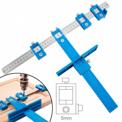 Мебельный кондуктор Шаблон для сверления отверстий под фурнитуру 5мм, 102548