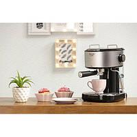 Кофеварка рожковая кофемашина для дома кофеварки электрические с пенообразователем Adler 4408 850W Silver